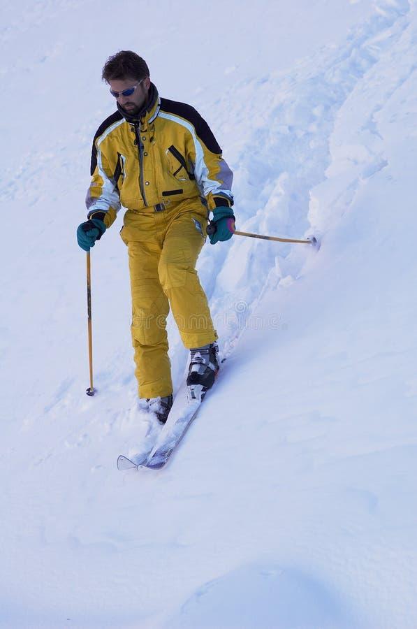 Mountain skier (two) stock image