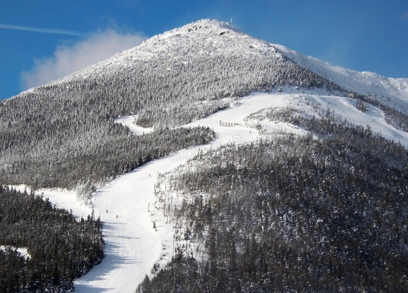 Mountain for skiing stock photos