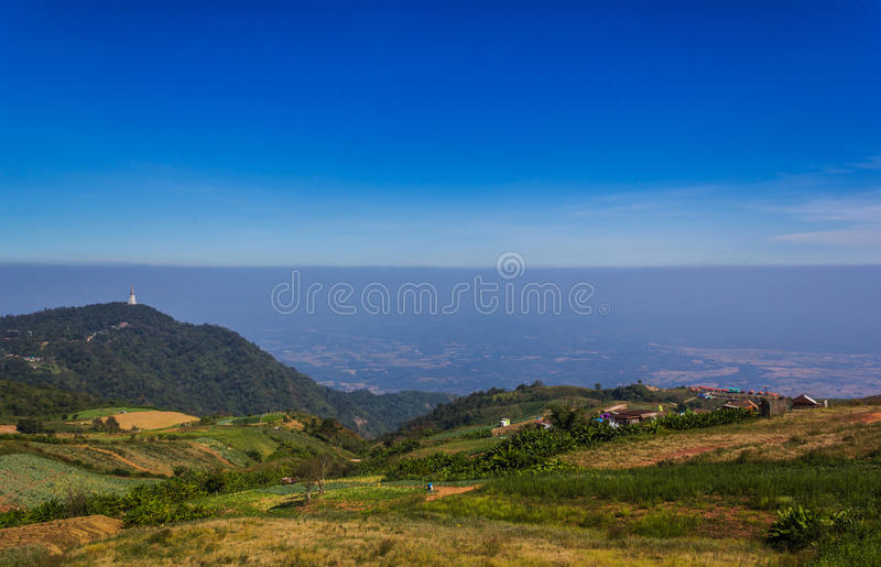 Mountain with the sky at Phu Thap Boek in Phetchabun. Mountain with the sky at Phu Thap Boek in Phetchabun,Thailand royalty free stock image