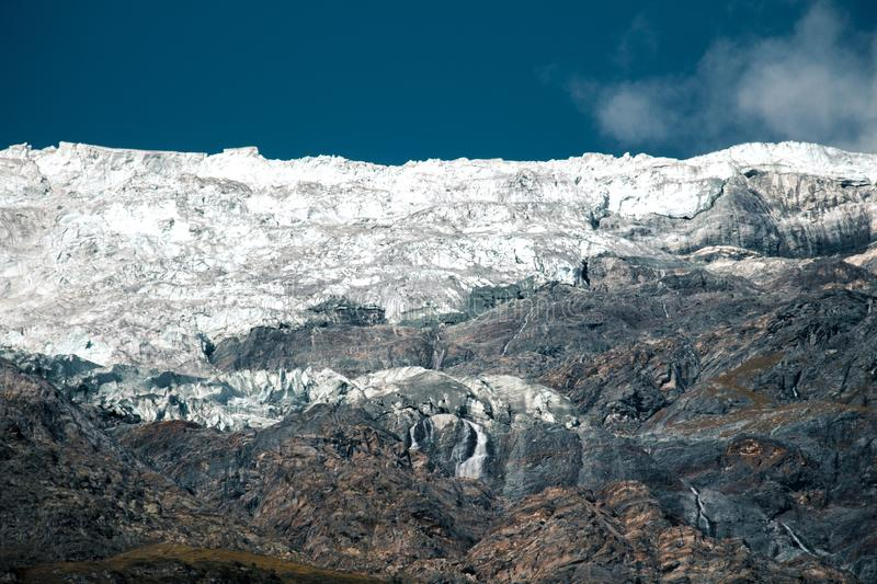 Mountain snow and glacier in Switzerland royalty free stock image