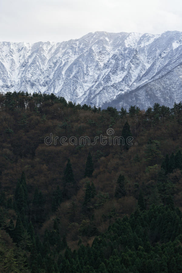 Mountain with the snow stock image