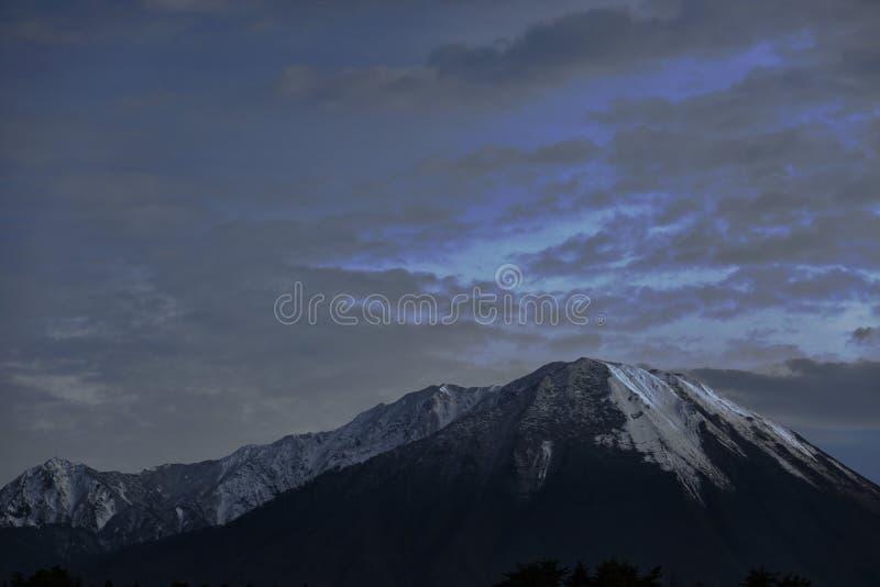 Mountain with the snow stock photos
