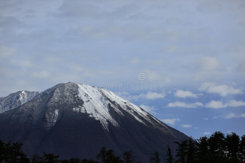 Mountain with the snow stock images