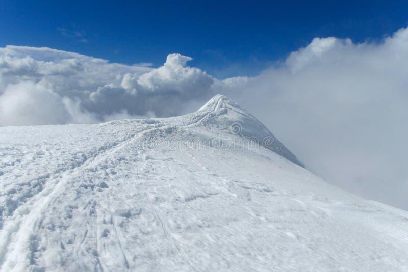 Mountain snow path royalty free stock image