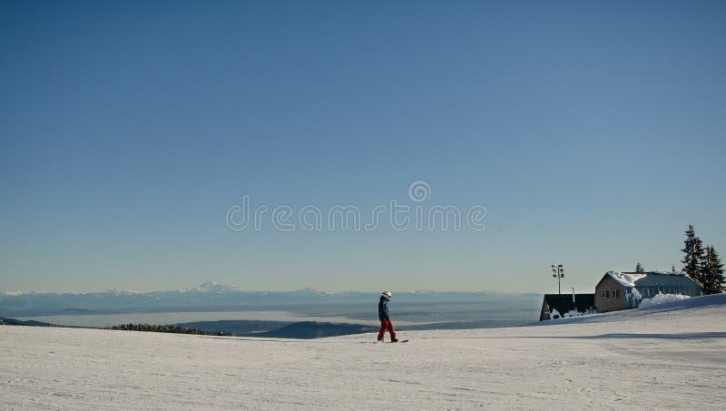 Mountain Snowboarding stock photography