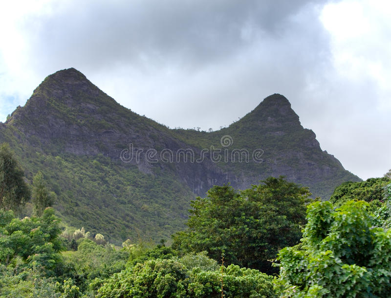 Mountain on south of Mauritius. Mountain on the south of Mauritius stock photography