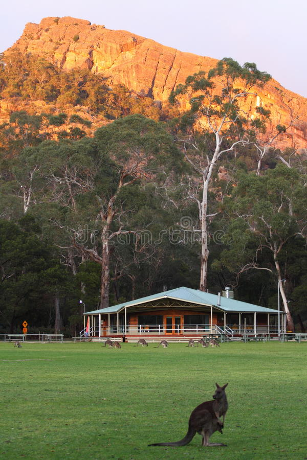 Mountain sports ground stock photo