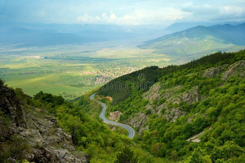 Mountain spring view from Bulgaria stock photo