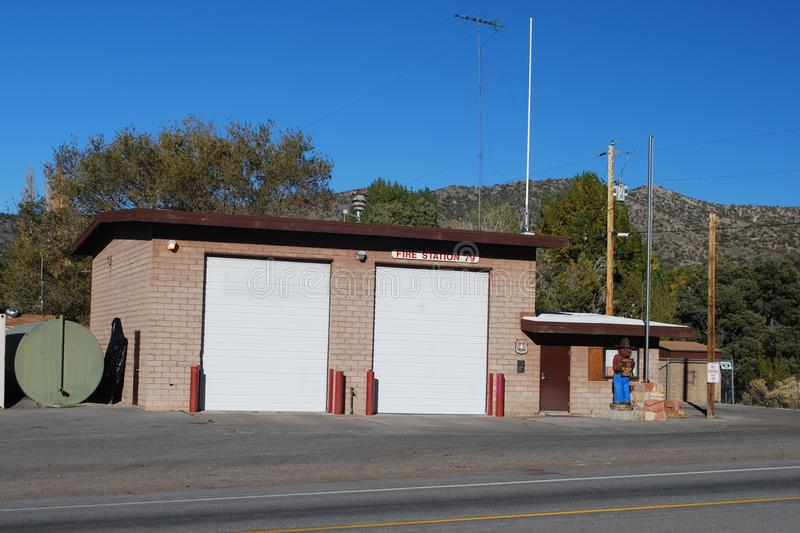 MOUNTAIN SPRINGS NEVADA VOLUNTEER FIRE DEPARTMENT. MOUNTAIN SPRINGS VOLUNTEER FIRE DEPARTMENT FIREHOUSE OF CLARK COUNTY NEVADA. ONE OF SEVERAL VOLUNTEER STATIONS royalty free stock photos