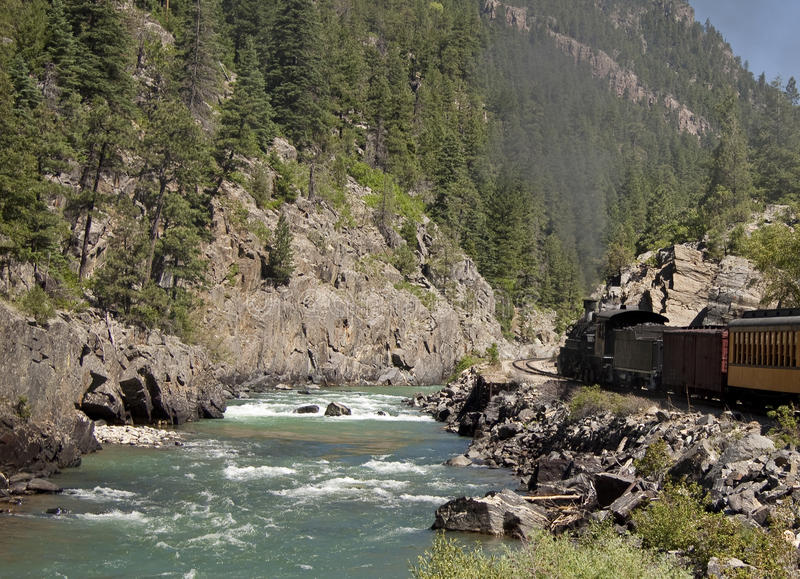Mountain steam locomotive royalty free stock image