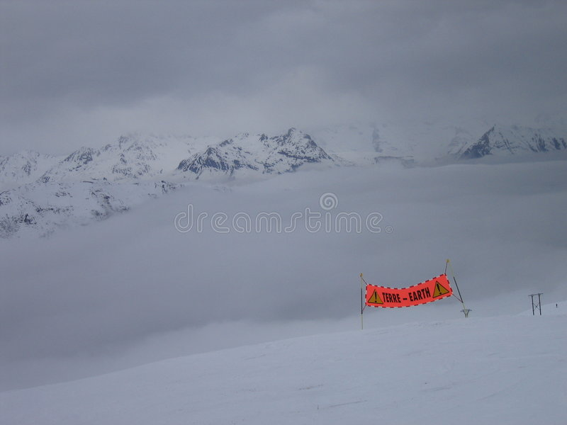 Mountain Storm on Earth stock photography