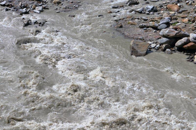 Splashing waters of a mountain river. Mountain torrent in Tyrol, Austria. royalty free stock photo