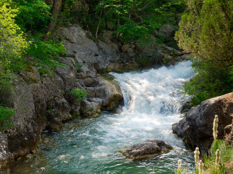 Download Mountain stream stock photo. Image of stone, spring, nature - 35590488