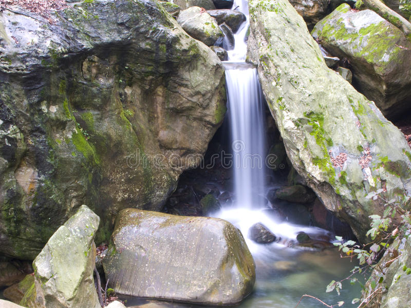 Mountain stream. In Mt. Pelion, Greece royalty free stock photo