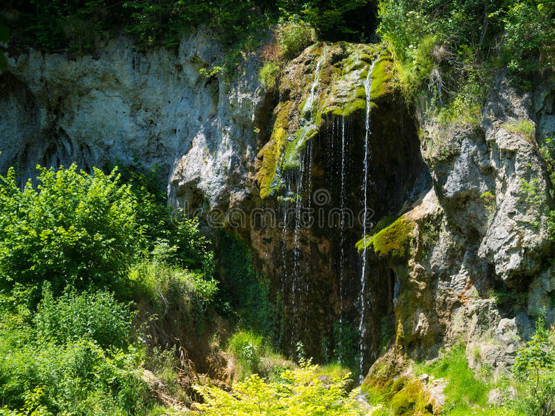 Mountain stream waterfall. Bigar mountain waterfall, royalty free stock images