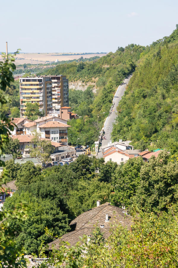 Mountain Street Lovech in Bulgaria stock images