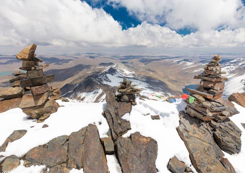 Mountain summit ridge, Cordillera Real, Bolivia. royalty free stock photography