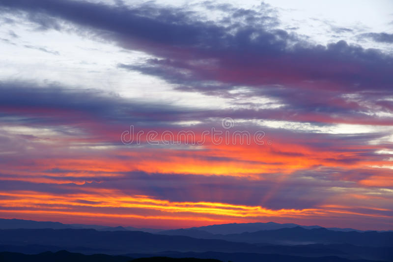 Mountain sunrise royalty free stock photo