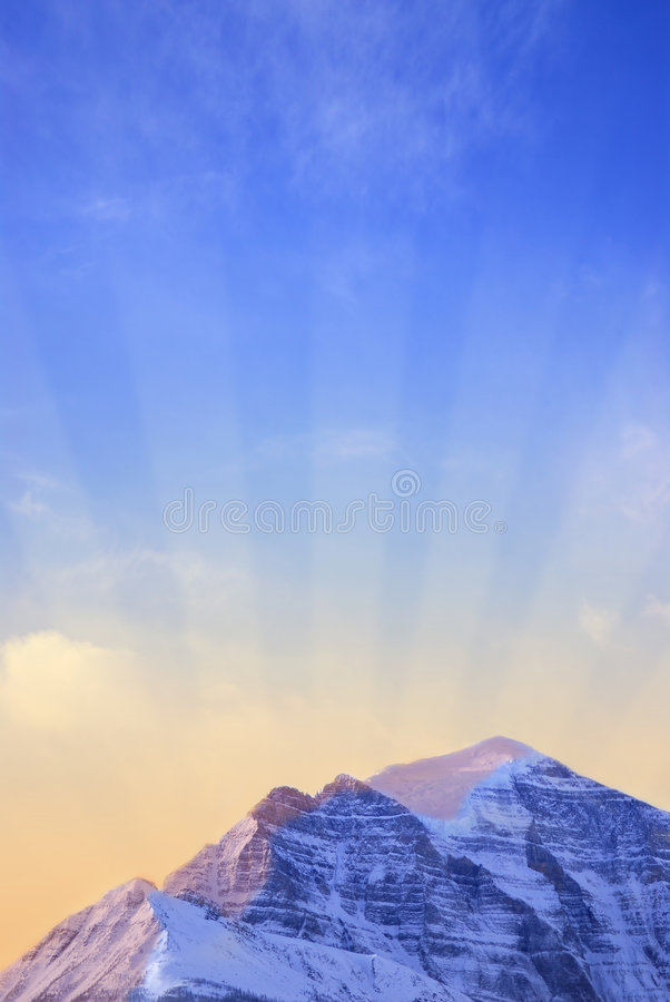 Mountain sunrise royalty free stock image
