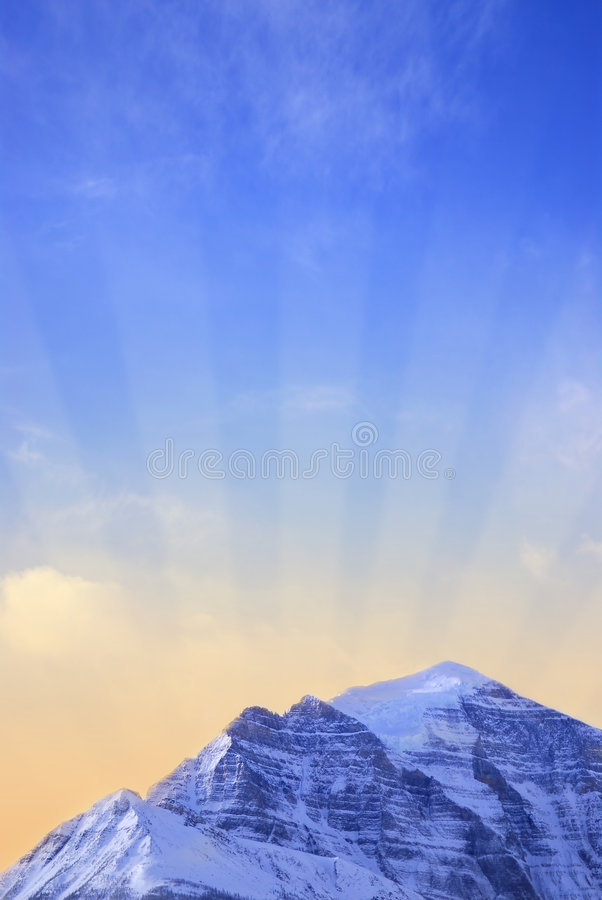 Download Mountain sunrise stock photo. Image of mountain, sunbeams - 2169014