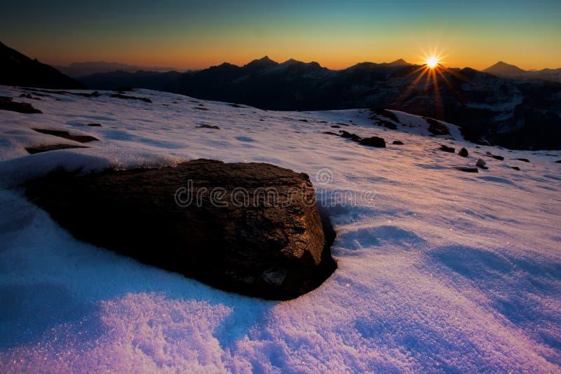 Download Mountain sunrise stock image. Image of dawn, autumn, winter - 21786989