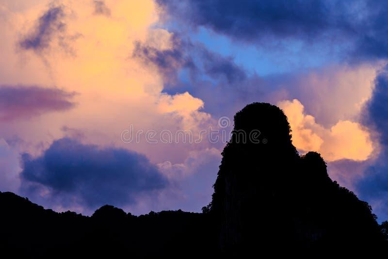 Mountain at sunrise stock photography