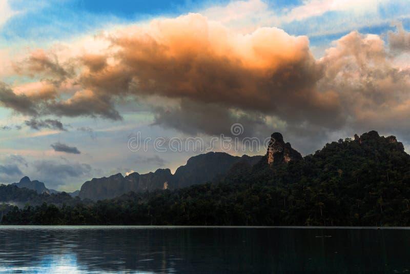 Mountain at sunrise stock photos