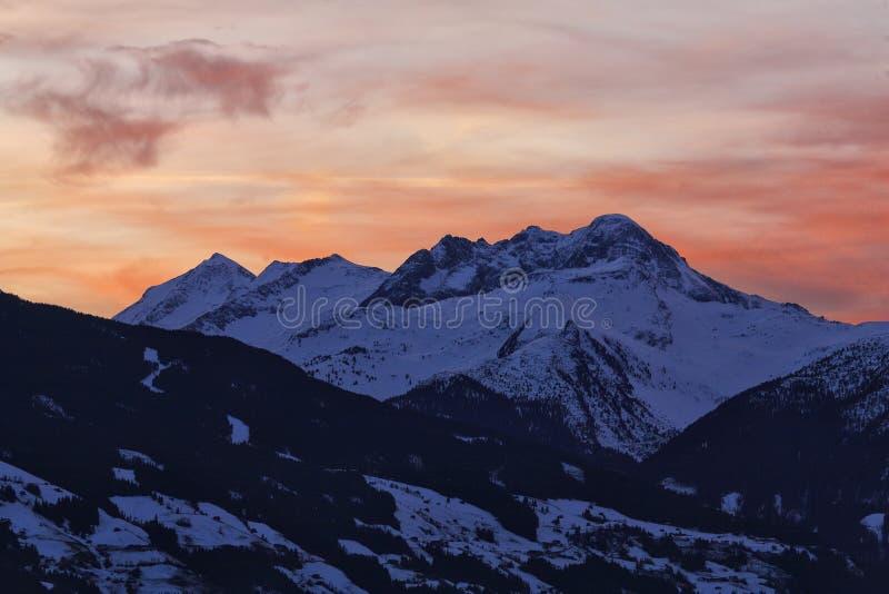 Mountain sunrise stock images