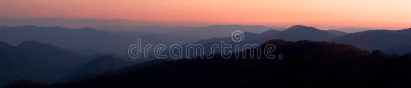 Mountain Sunset Panorama royalty free stock images
