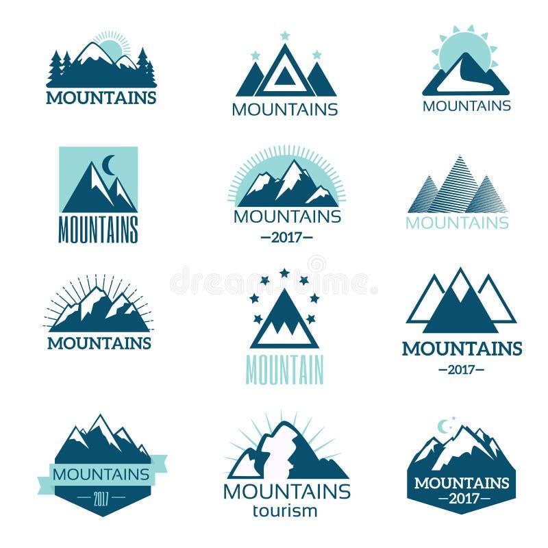 Mountain symbol vector set vector illustration