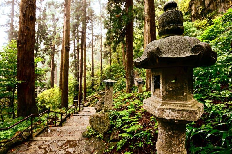 Mountain Temple Trail royalty free stock photo