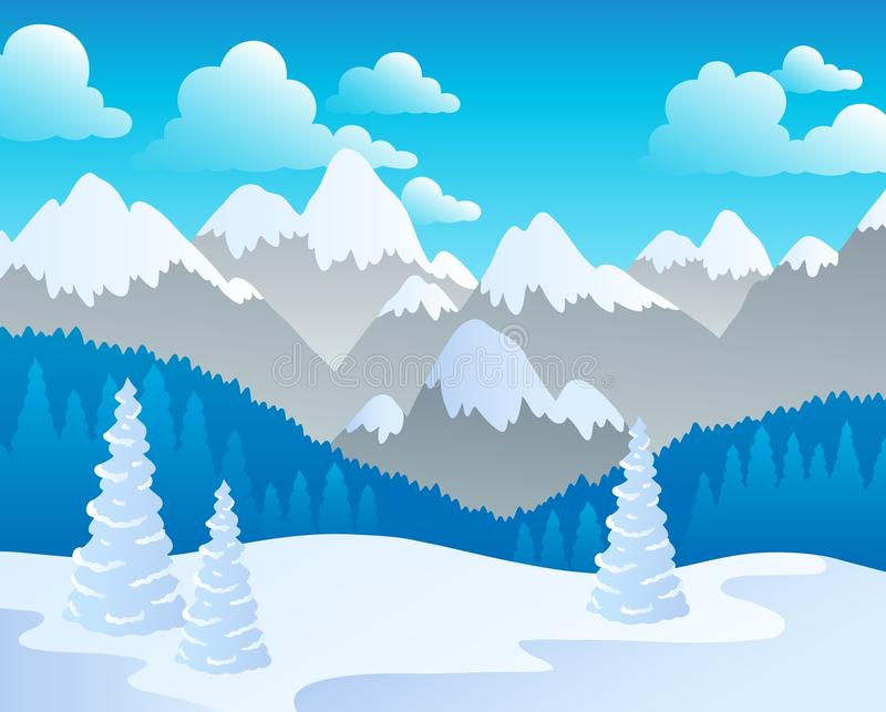 Download Mountain theme landscape 4 stock vector. Image of country - 23290884