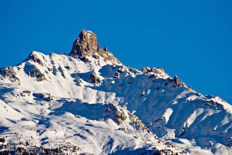 Download The mountain top stock image. Image of switzerland, rock - 453471
