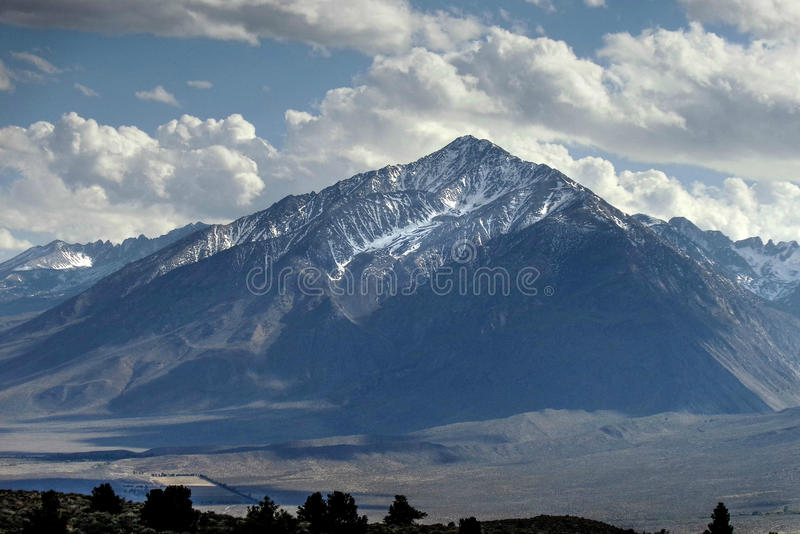 Mountain Top - Mt. Patterson, California, USA. Mt. Patterson is the scenic and interesting neighbor of the larger Sierra Nevada Range. Situated east of the stock image