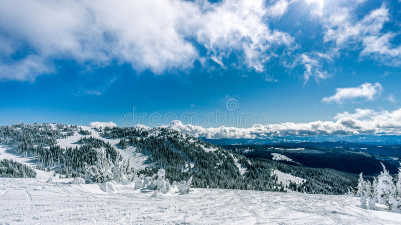 Mountain Top view of the Shuswap Highlands royalty free stock photos