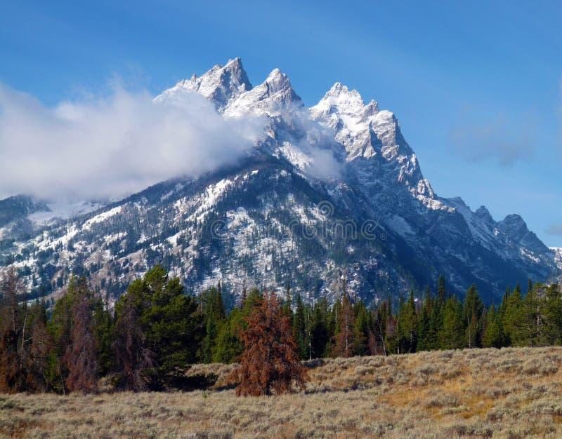 Mountain tops stock photography