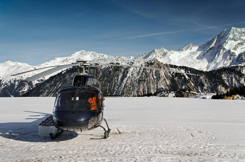 Download Mountain Touristic Helicopter In Flight Stock Image - Image: 22149581
