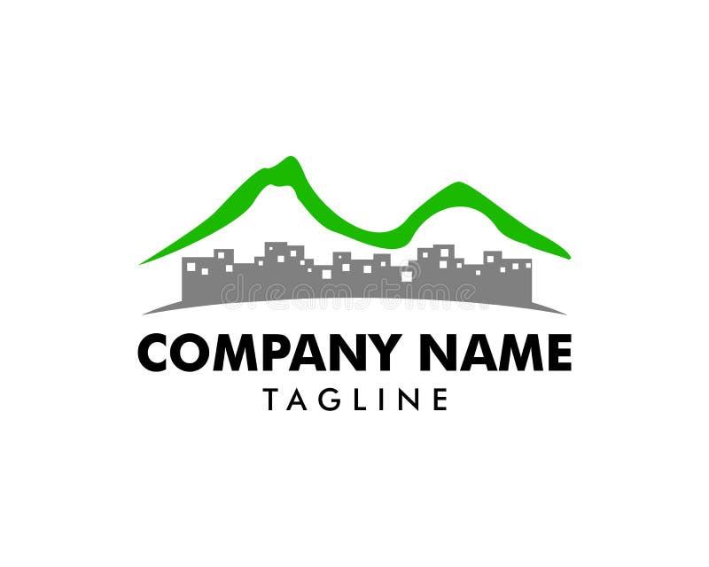 Mountain Town Logo Icon Design royalty free illustration