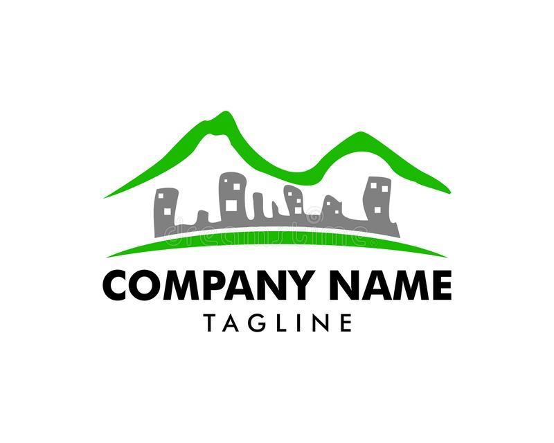 Mountain Town Logo Icon Design vector illustration