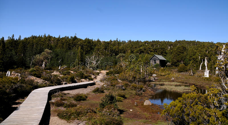 Download Mountain Trail and Hut stock photo. Image of alpine, national - 11987826
