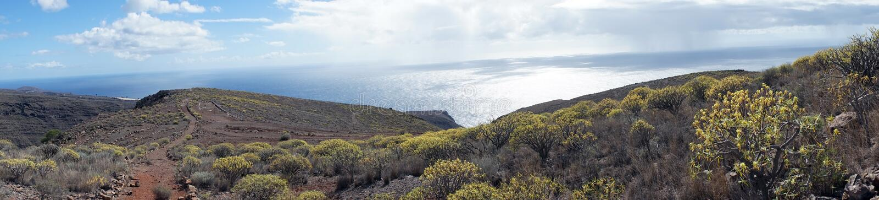 Mountain trail. On the La Gomera island, Spain stock image