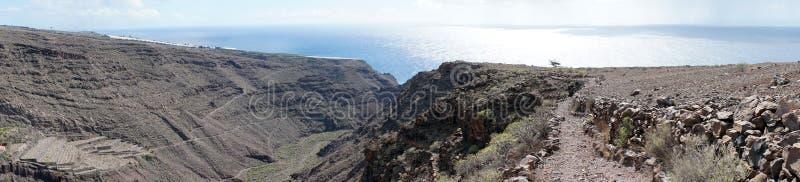 Mountain trail. On the La Gomera island, Spain stock photography