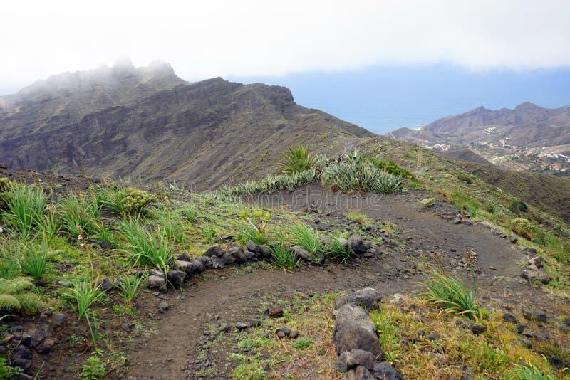 Mountain trail. On the La Gomera island, Spain royalty free stock image