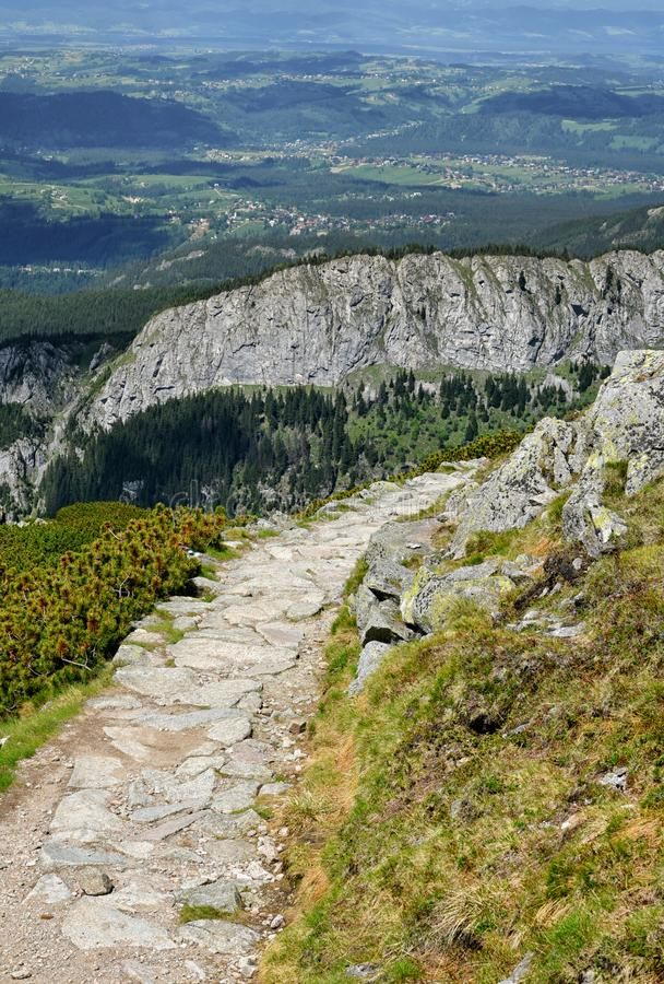 Mountain trail, Tatra mountains, Zakopane, Poland royalty free stock photography