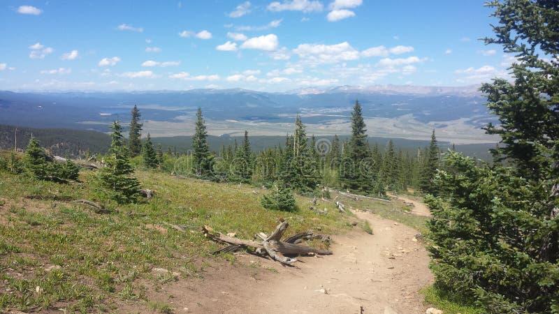 Mountain trail royalty free stock photo