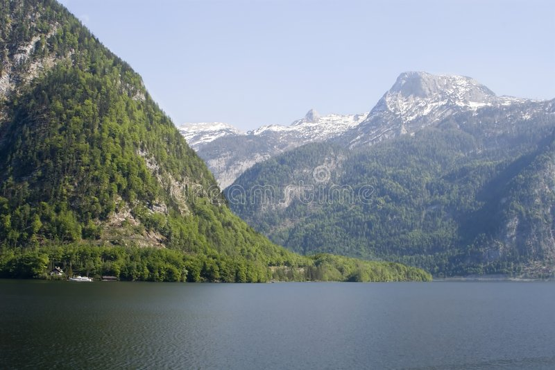 Mountain by traunsee stock photos
