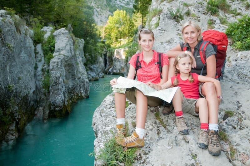 Mountain trek royalty free stock photography
