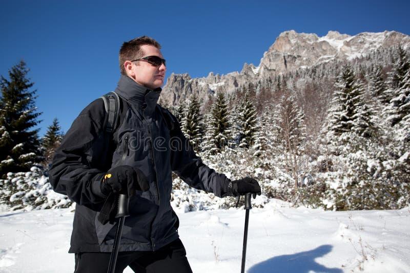 Mountain trek stock photos
