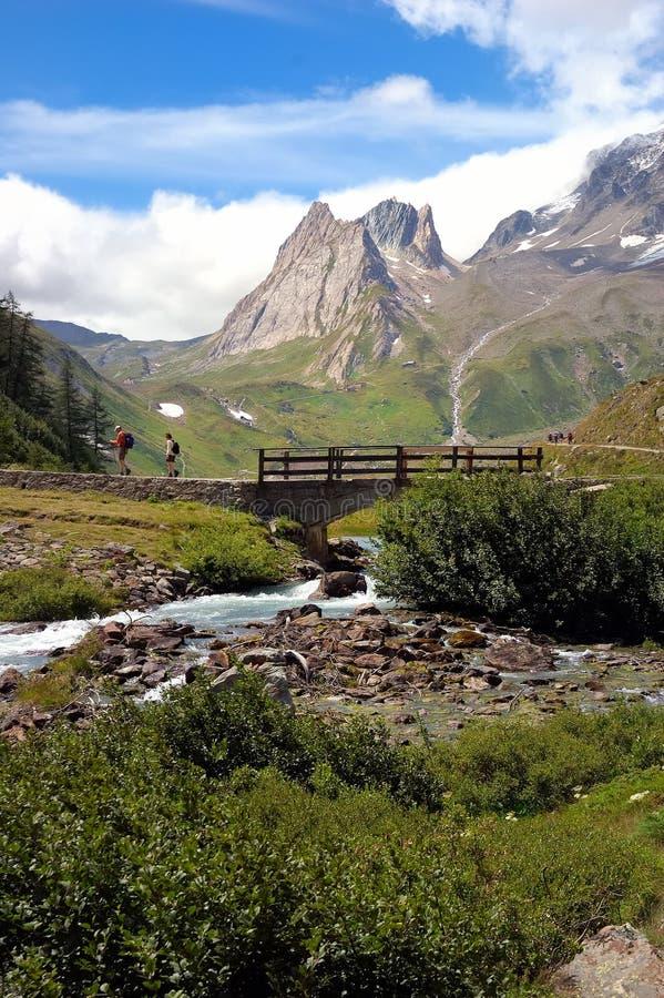Mountain trekker royalty free stock photos