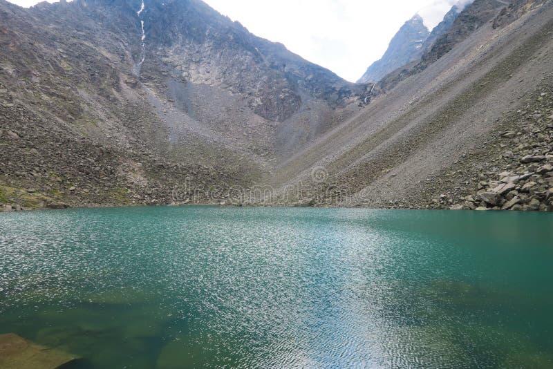 Mountain turquoise lake. Mountain spirits lake Altai Mountains, Russia stock photo